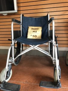 standard wheelchair for rent