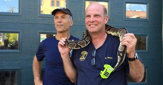 Zoo Director Thane Maynard visits Fire Station