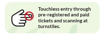 touchless entry at the gate