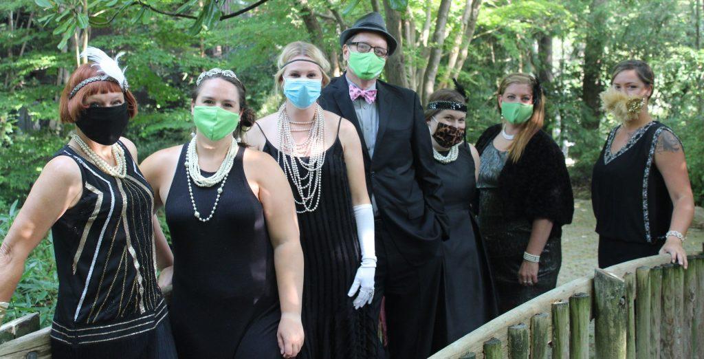 Cincinnati Zoo staff dressed in Zoofari theme
