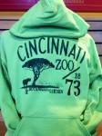adult green hoody