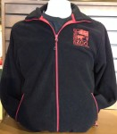black and red fleece