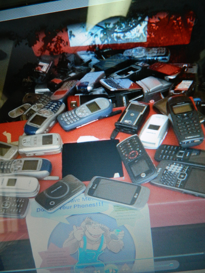 Over 300 Cell Phones Collected by partnering with 6 Elementary Schools.