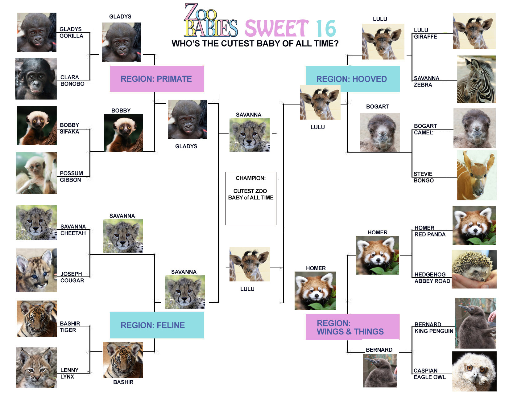 Only two cuties left!  Who will be the champion?  Lulu or Savanna?