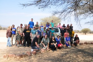 Earth Expeditions participants in Namibia (Photo: Dan Marsh)