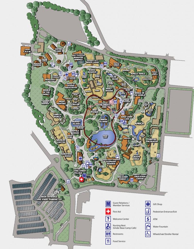 Zoo Map The Cincinnati Zoo Botanical Garden