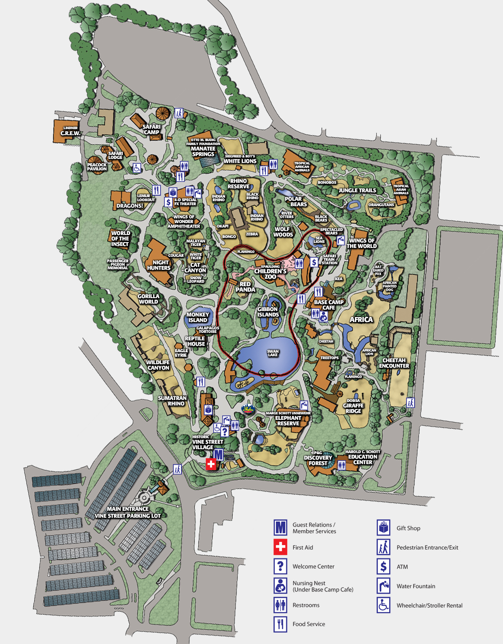 zoo map - the cincinnati zoo & botanical garden