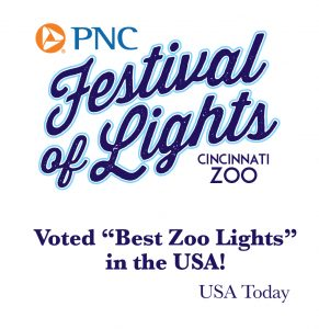 pnc festival of lights cincinnati zoo botanical garden