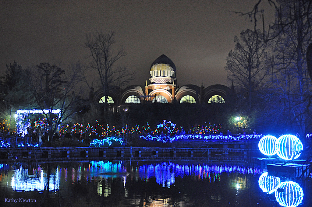 View of Elephant House during festival of lights