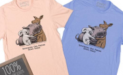 fiona and friends fundraiser shirt with kangaroo and koala hugging fiona