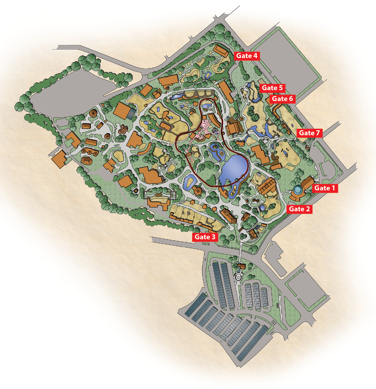 Cincinnati Zoo Map Zoo Map   Cincinnati Zoo & Botanical Garden® Cincinnati Zoo Map